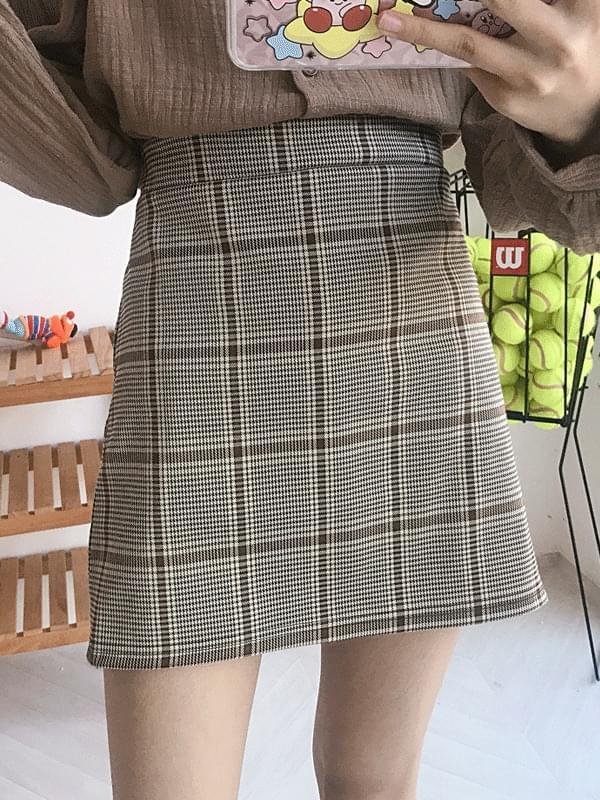 Trudy check skirt