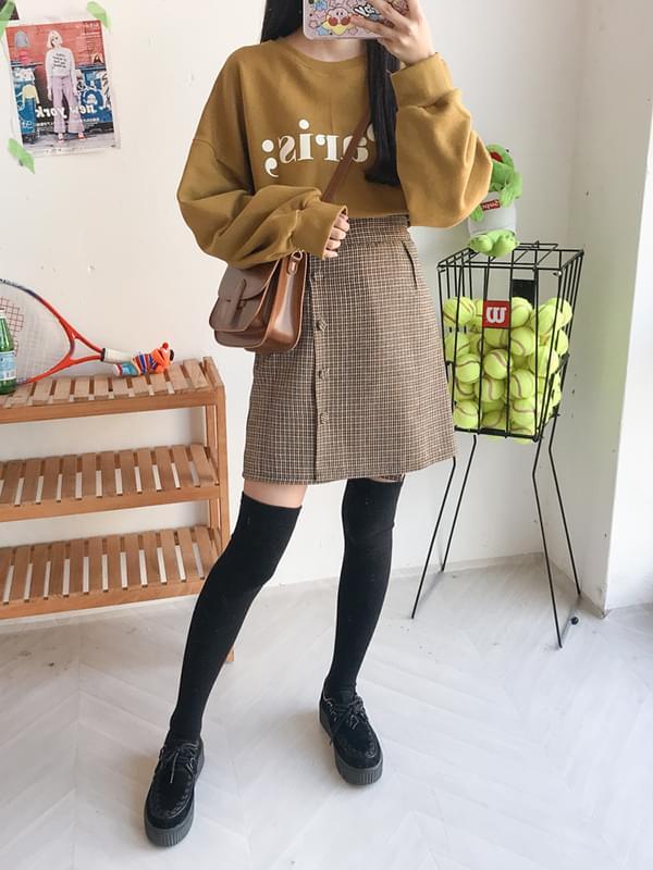 Peony Button Skirt