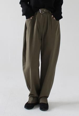 Belt slit long pants (2colors)