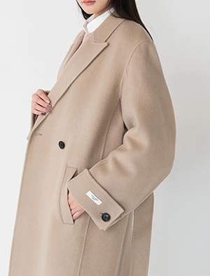 belted back slit coat