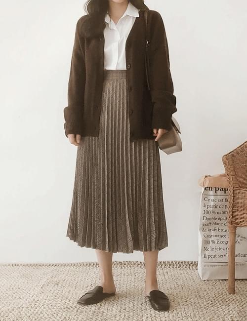 Rochecz wrinkled long skirt