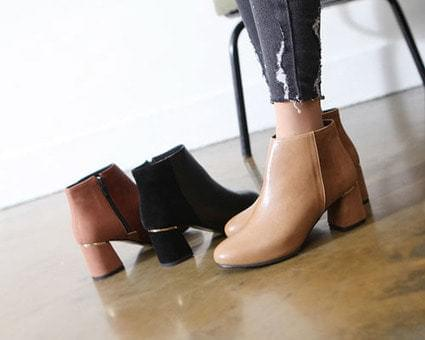 Knit Tongue Ankle Boots
