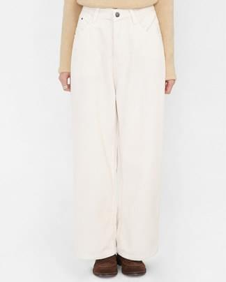 sold corduroy wide pants (s, m)