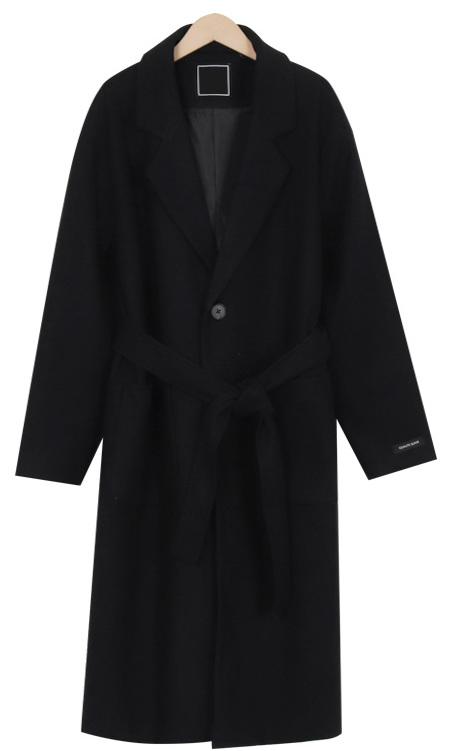 Blanc single belt coat_M (size : free)