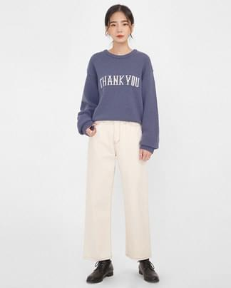 thank you wool round knit