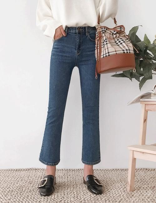 Heather semi-boots cut pants