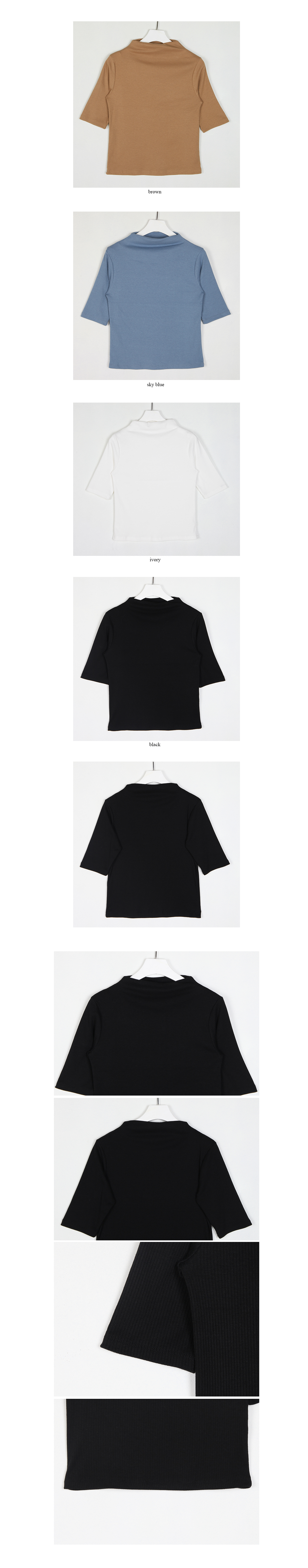 short sleeve polo top(3colors)