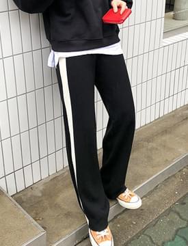 Flora line knit pants_K (size : free)