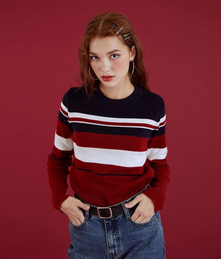 Edge color Tegara knit
