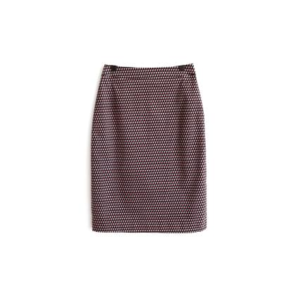 Mono pattern span skirt