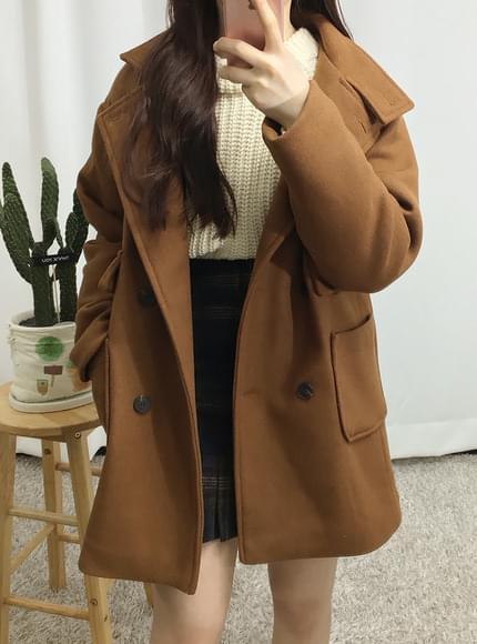 Discounts ♥ Wool 50% pocket double coat