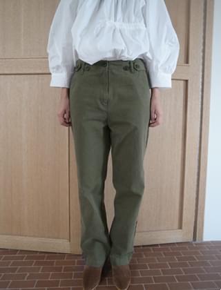 button cotton pants (3colors)