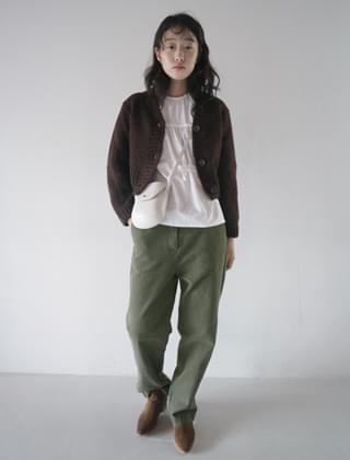 woolen crop cardigan (3colors)