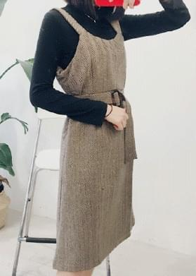 Herringbone Belt Dress