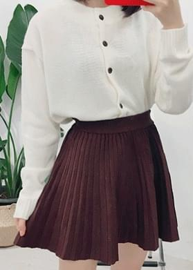 Flared knit skirt mini skirt