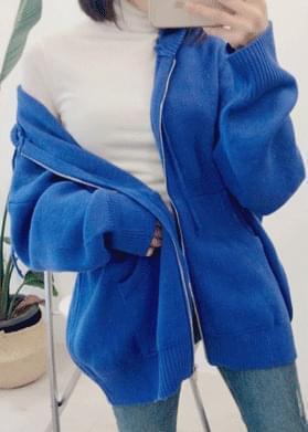 Box knit hood