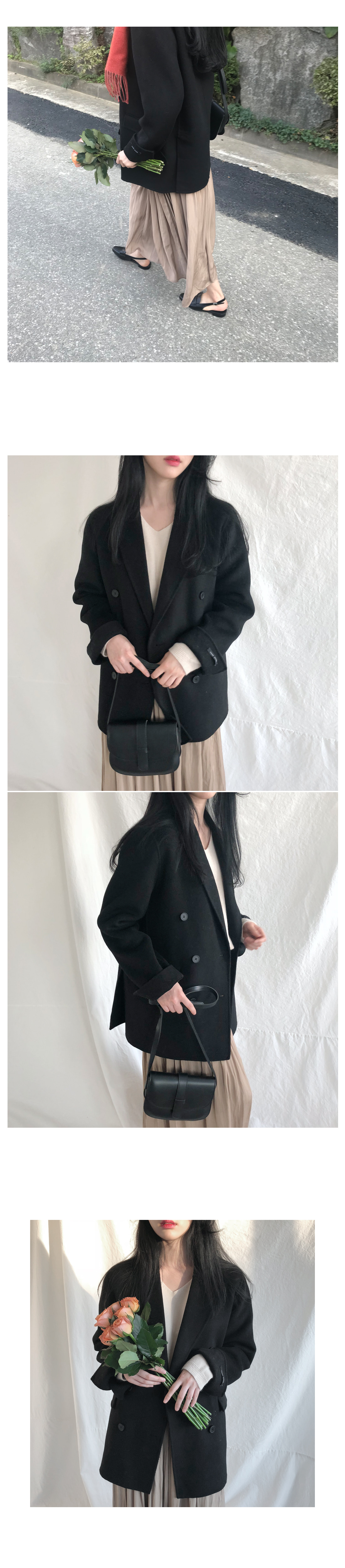 Shutter double handmade coat