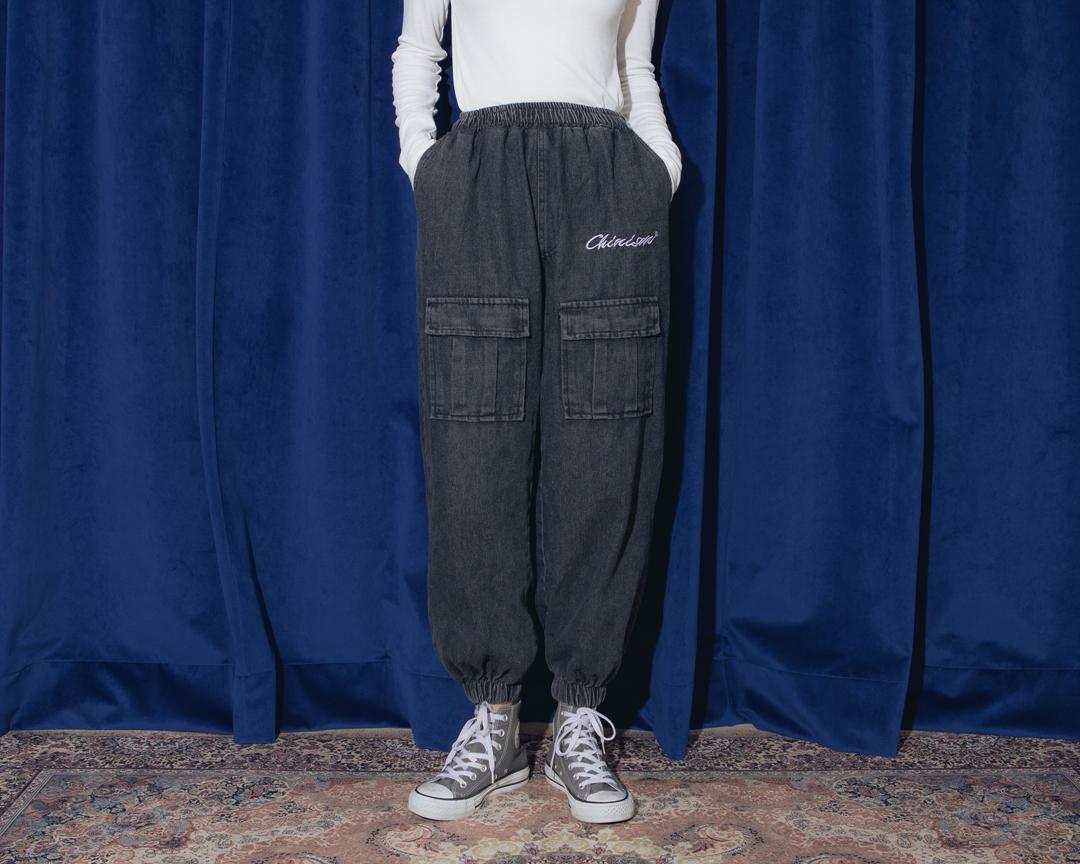 Denim pocket Jogger pants