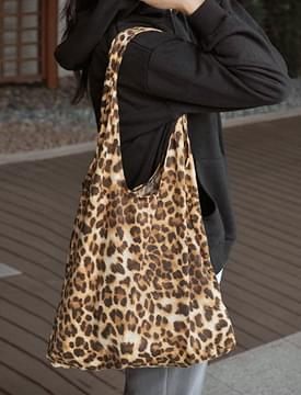 Way leopard cotton bag_S (size : one)