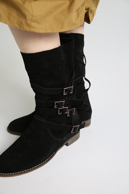 belt ankle boots (2colors)