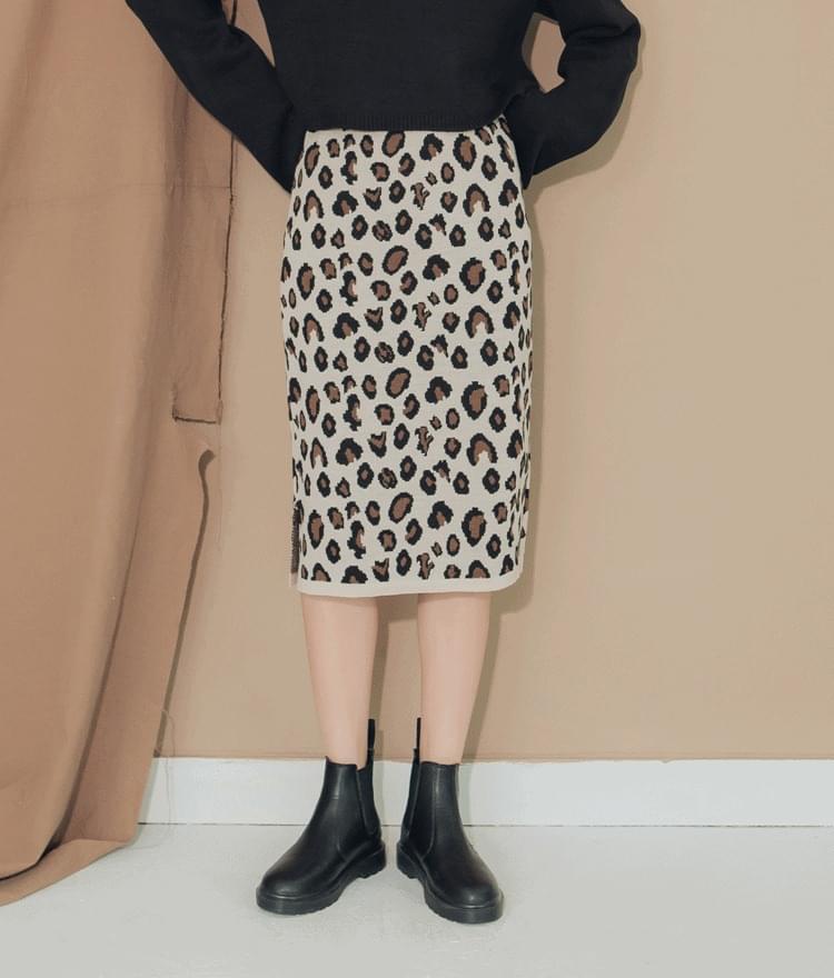 Ratmin Leopard Banding Skirt