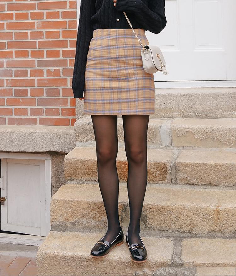 Elia check skirt
