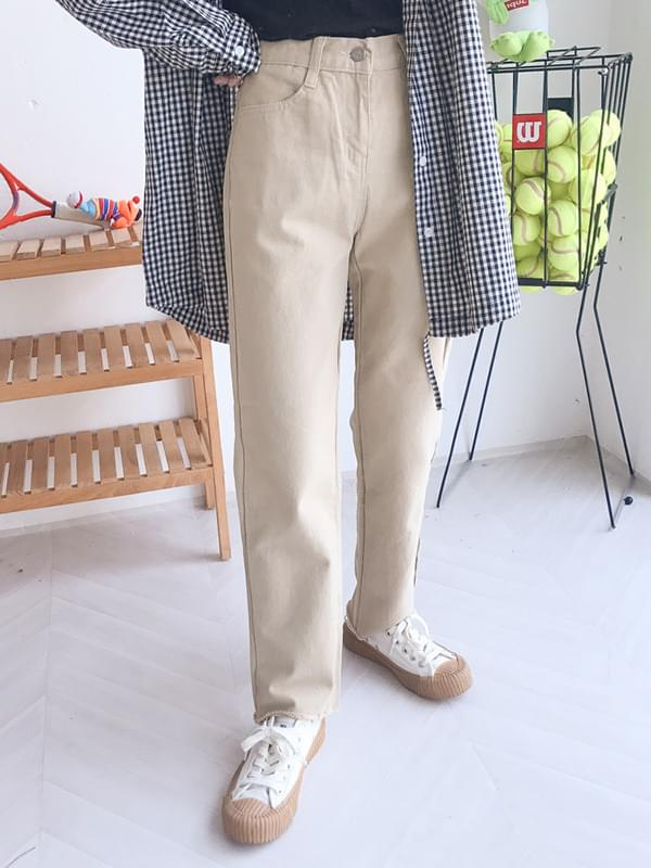 Crimmered Cotton Pants
