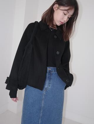 neat handmade half coat (2colors)