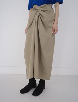 twist wrap skirt (2colors)