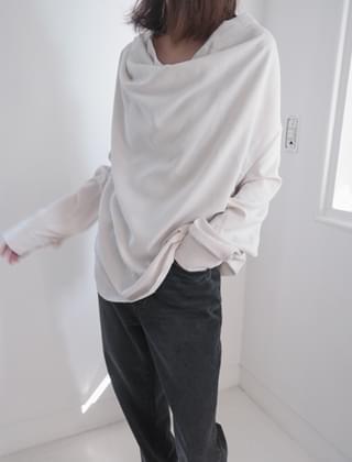 cowl neck soft blouse (2colors)