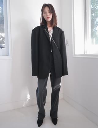 oversize boxy jacket (2colors)