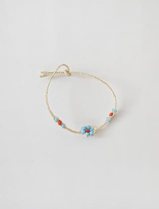 point wheat straw bracelet (3colors)