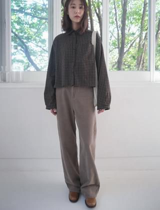 straight fit corduroy pants (2colors)