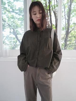casual check blouse (2colors)