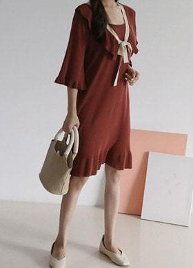 Ribbon Knit Dress