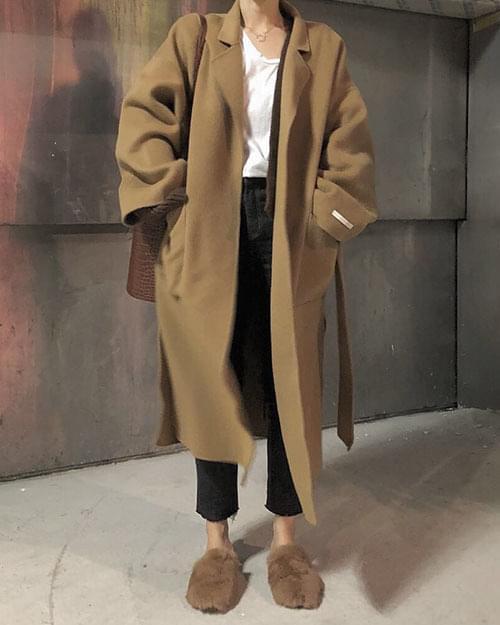 슬릿 핸드메이드 코트 (2color)