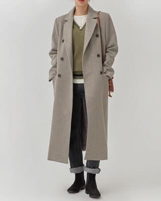 mannish wool long coat