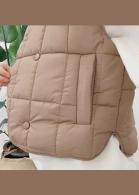 Double button square padded vest