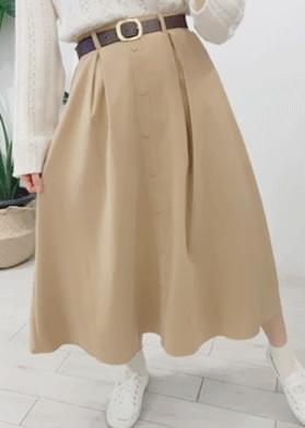 A line flared long skirt