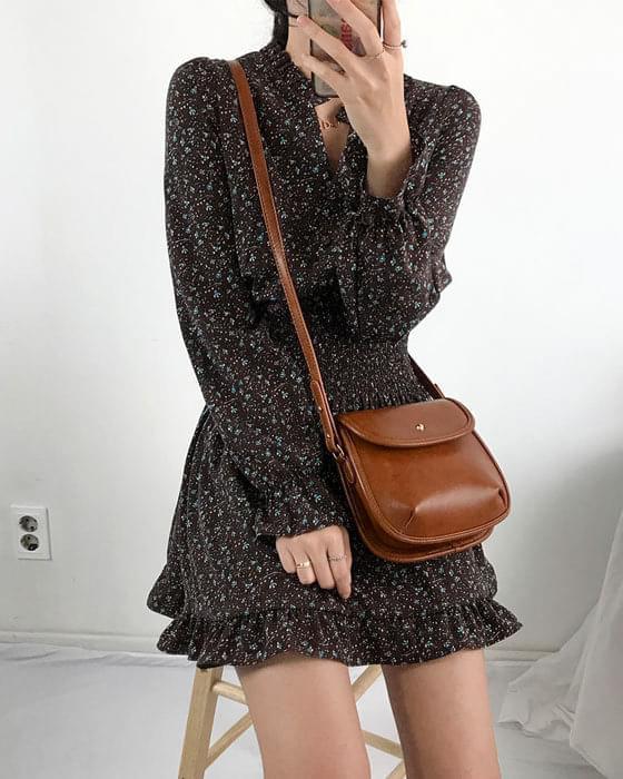 Lucy frill chiffon mini dress 2 color