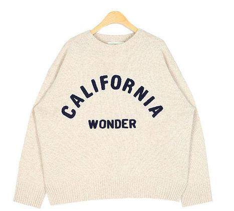 california wool round knit
