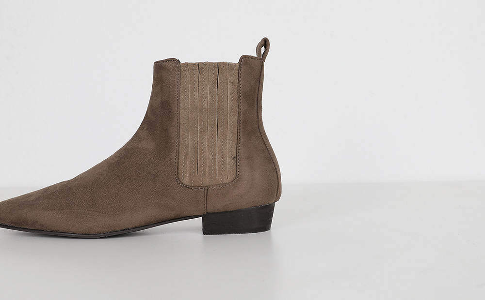 by suede ankle boots (2colors)