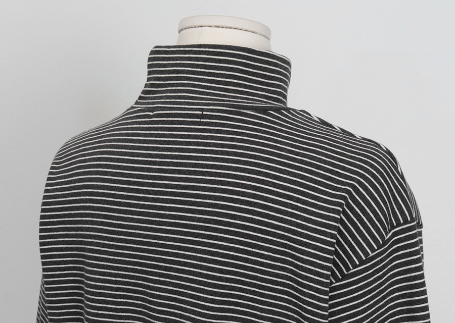 Smooth stripe half-neck T_S (size : free)