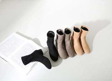 Span Flat Ankle Boots 3.5cm