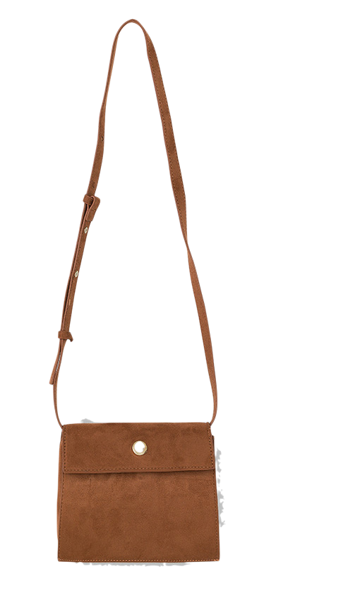 pearl point suede bag