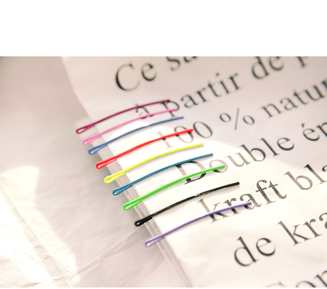 RAINBOW 10 COLOR HAIR PIN