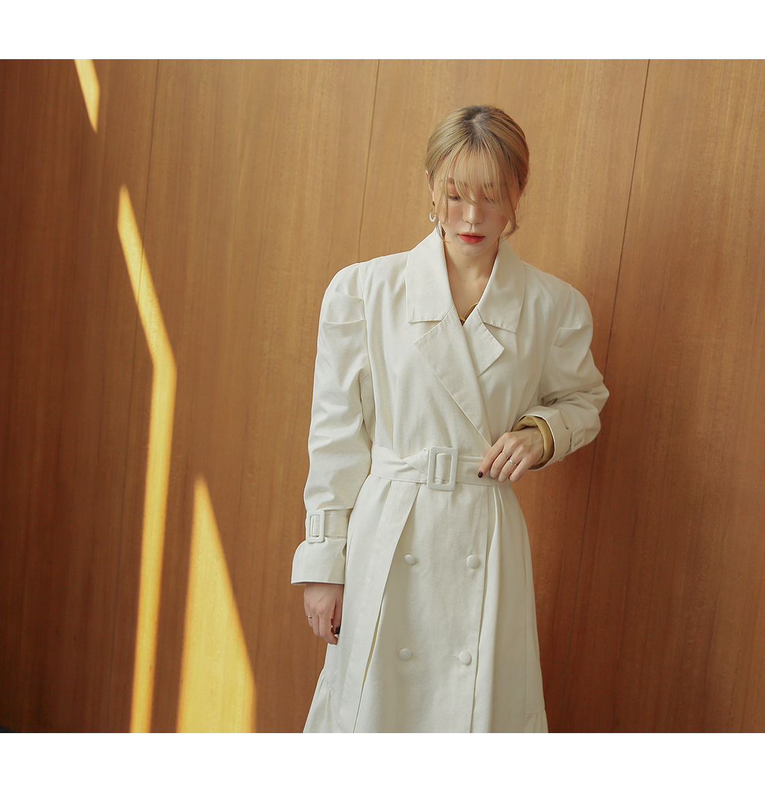[OUTER] GRACEFUL PUFF TRENCH COAT