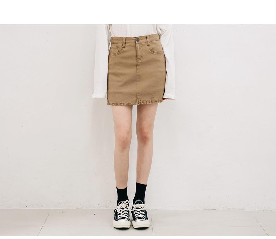 [SKIRT] 6 COLOR CUTTING PANTS SKIRT