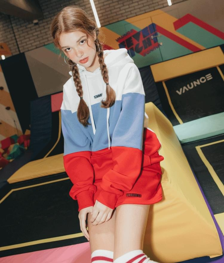 Three Color Hoodie String Skirt Set (기모)