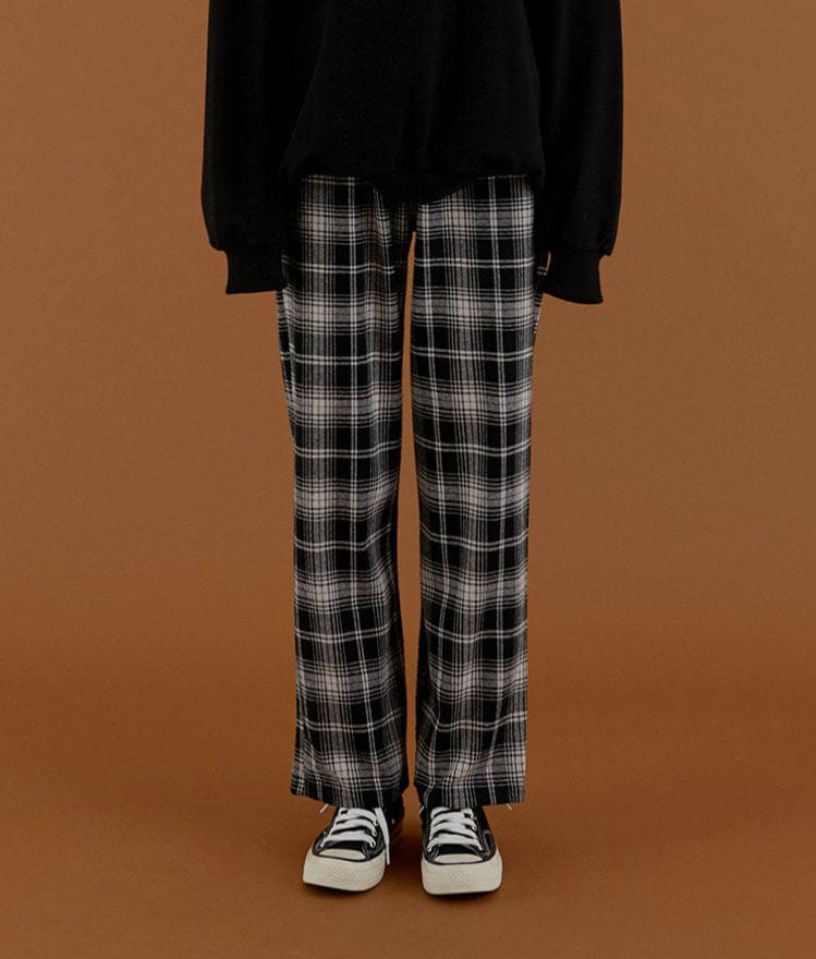 Wide Date Check Pants
